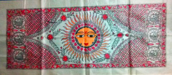 Madhubani PAinting of God Sun