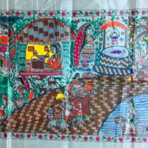 Madhubani Paintings of Village Life