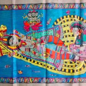 Madhubani Paintings of Lord Vishnu